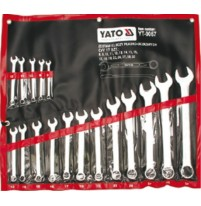 Bộ cờ lê vòng miệng hệ mét 17 chi tiết Yato YT-0067