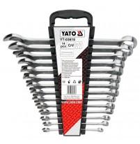 Bộ cờ lê vòng miệng 14 chi tiết 8-24mm Yato YT-03618