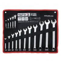 Bộ cờ lê vòng miệng hệ inch 16 chi tiết Yato YT-48852