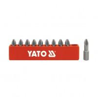 Bộ đầu vít 4 cạnh - lục giác PZ 1/4 inch 10 chi tiết YT-0470