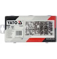 Bộ đai ốc không gỉ tổng hợp 150 chi tiết Yato YT-06775