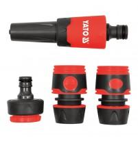 Bộ khớp nối và vòi phun nước 1/2x3/4 inch 4 chi tiết Yato YT-99831